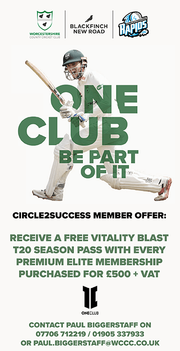 Worcestershire County Cricket Club Advert