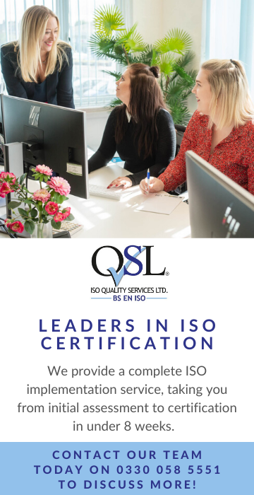 ISO Quality Services Ltd Advert