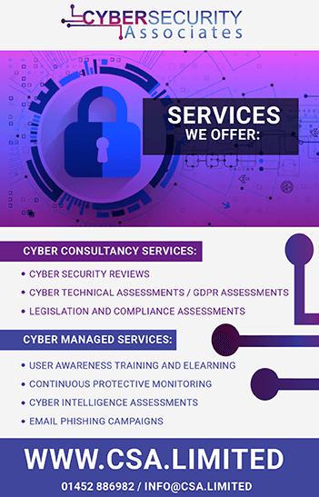 Cyber Security Associates Advert