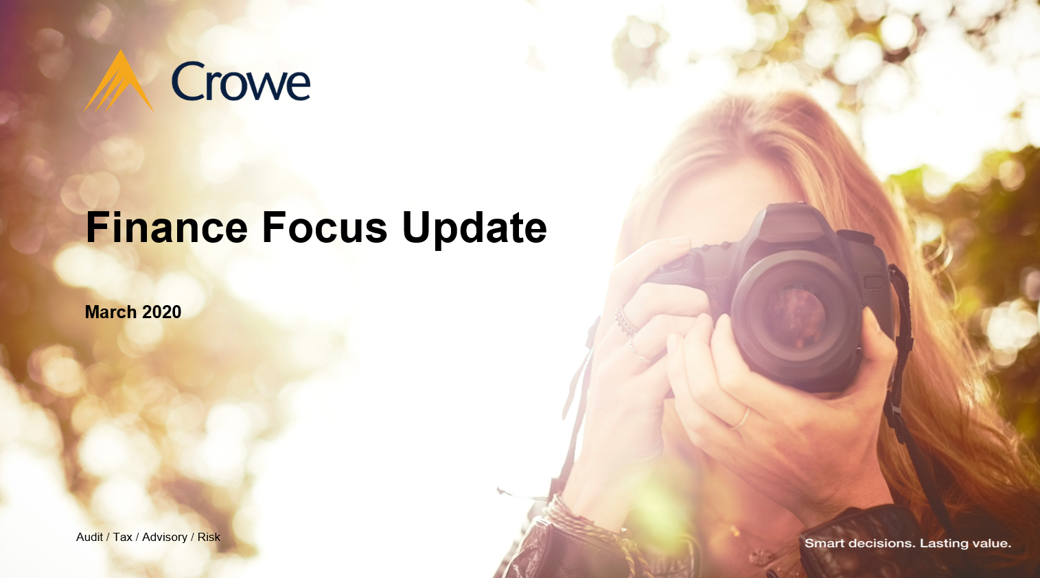 Finance Focus At Clarkson Evans with Crowe